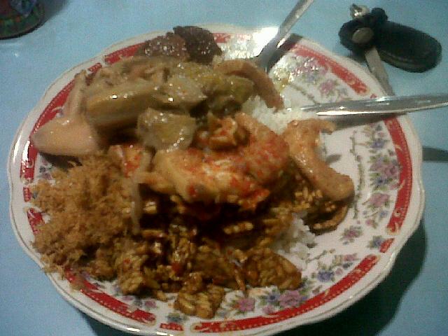 Nasi Campur + Ayam/Daging