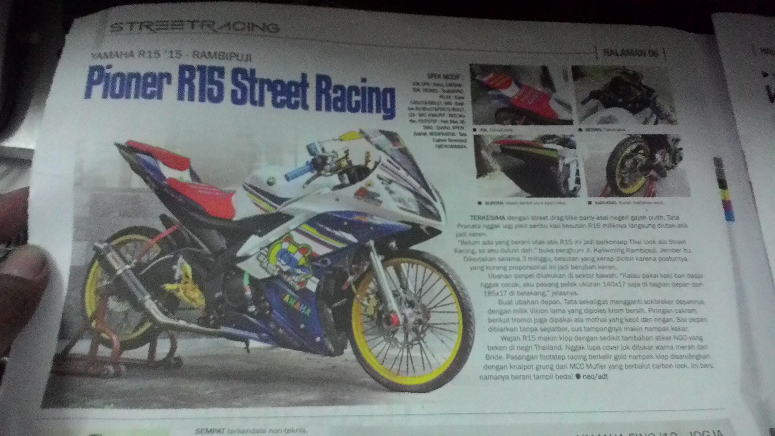 R15 Ban Cacing Street Racing Masuk Majalah OtoTrend