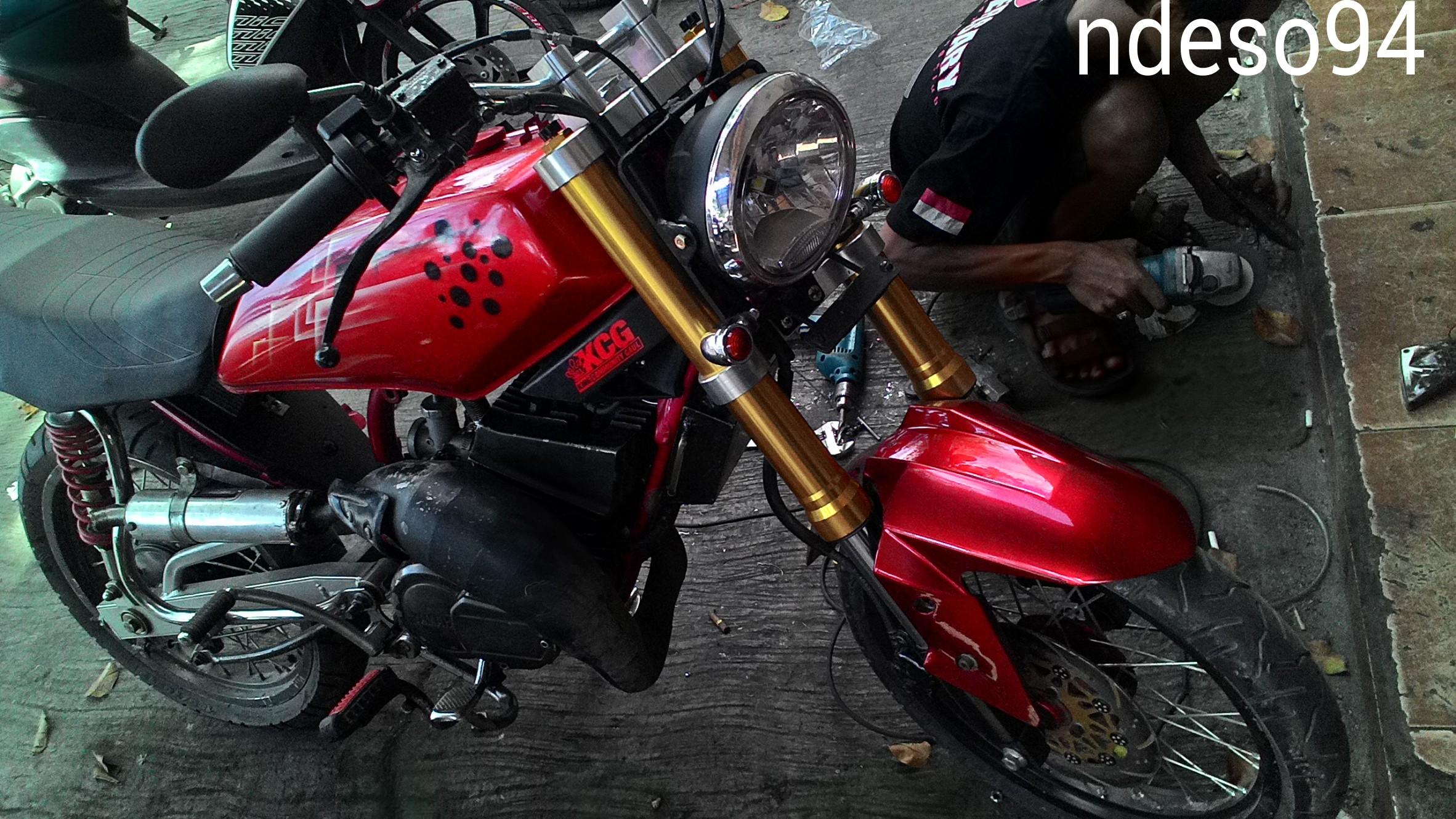 modifikasi lampu depan motor rx king terbaru