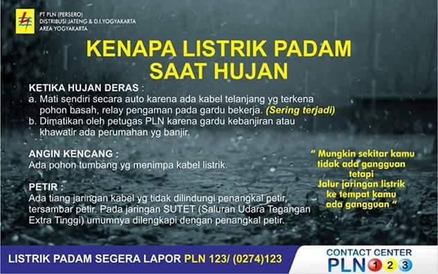 Kenapa Listrik Pln Padam Saat Hujanpetir Rider Ndeso94