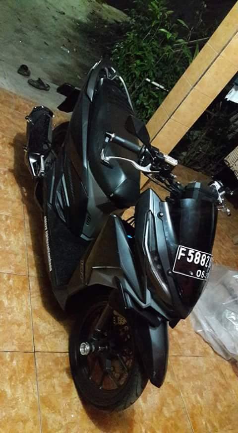 Modifikasi Vario 150 Trondol Hitam Elegan Rider Ndeso94