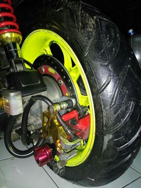 Vario 125 Esp Modifikasi Upgrade Kaki Kaki Pakai Rear Disk Brake