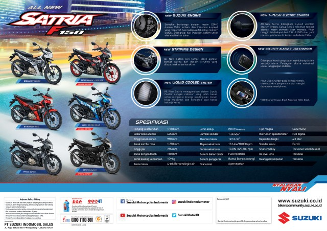 All New Satria F150 - 2017 - flyer-A4-back